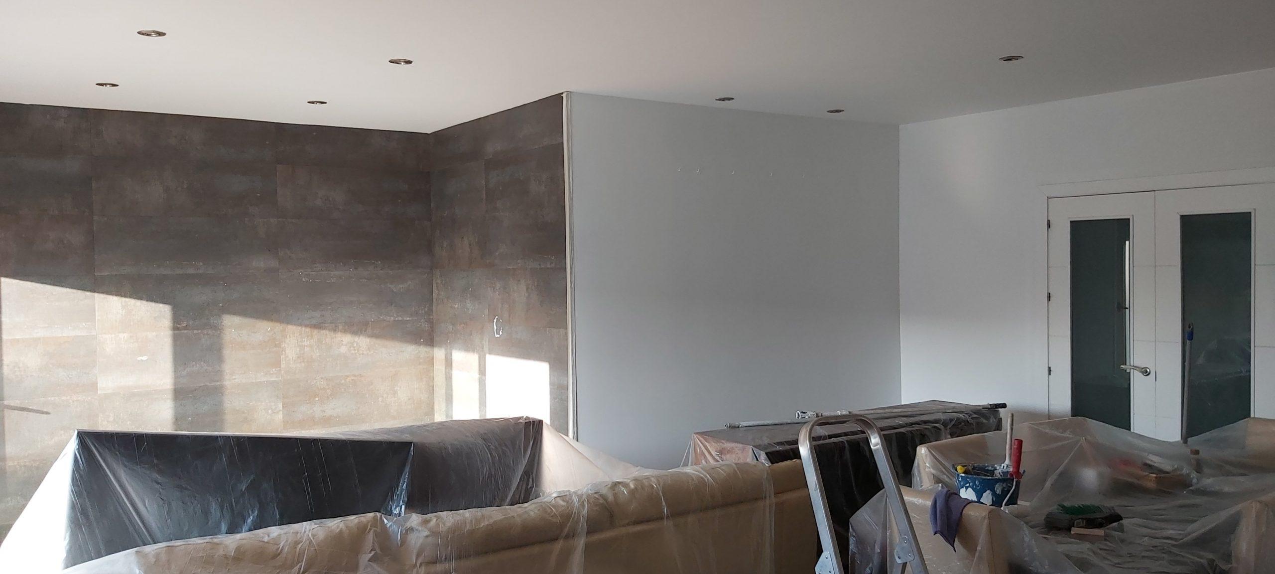 Pintar el interior de tu casa. Pintado de salón