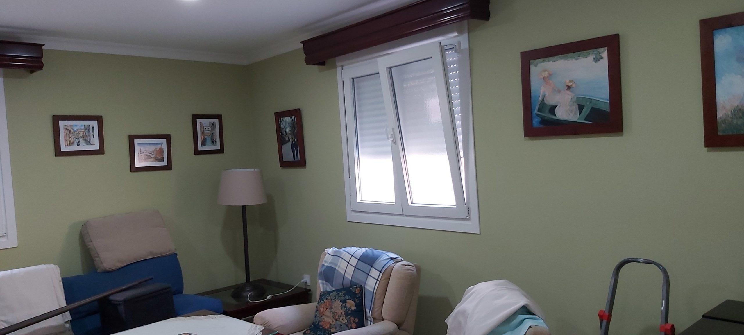 Pintar el interior de tu casa. Salón de piso pintado