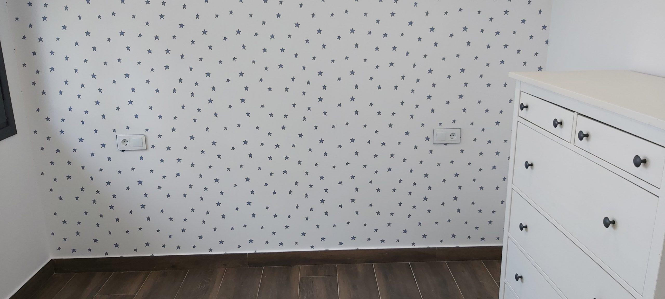 Pintar el interior de tu casa. Papel pintado infantil