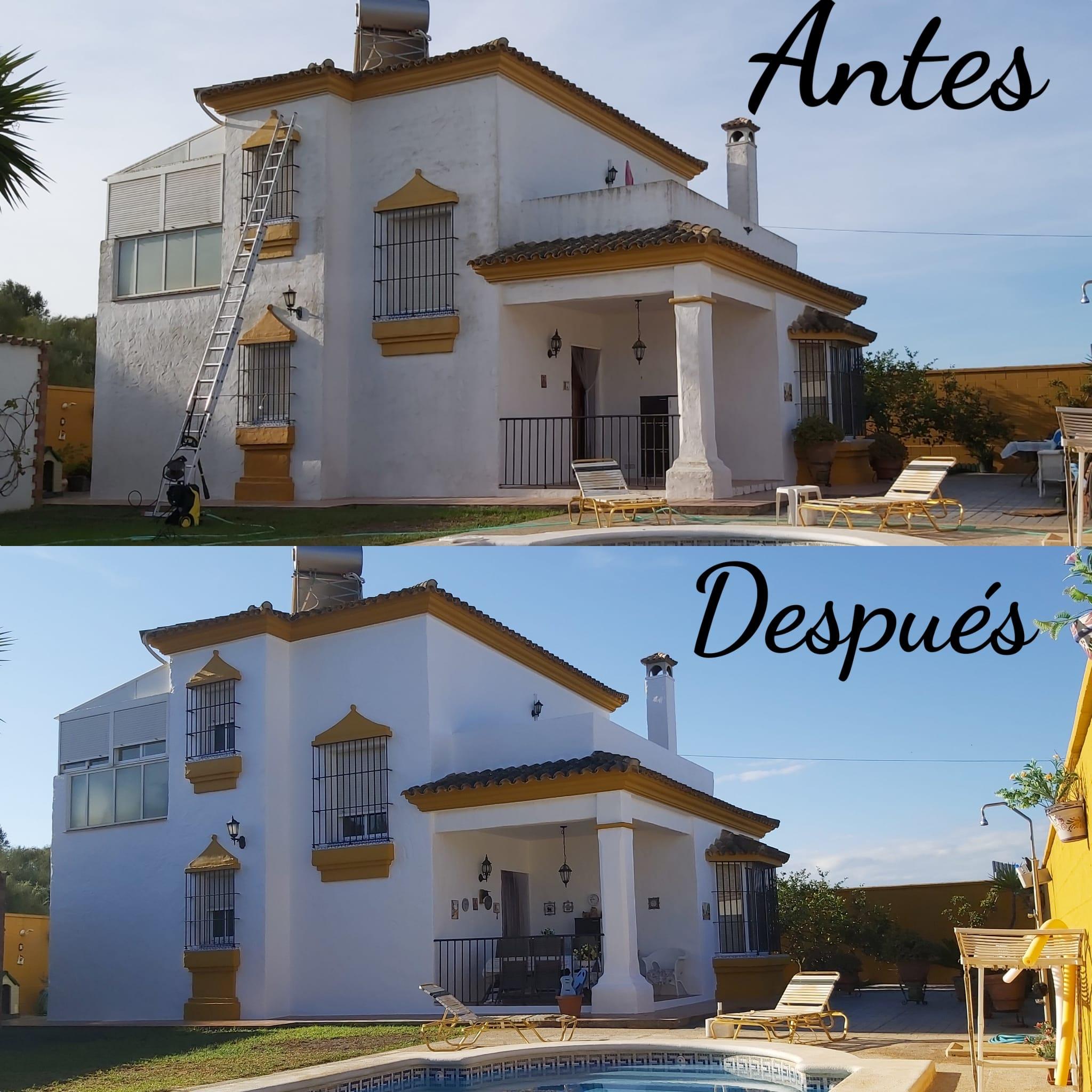Pintor de casas. Pintado de chalet. Antes y después