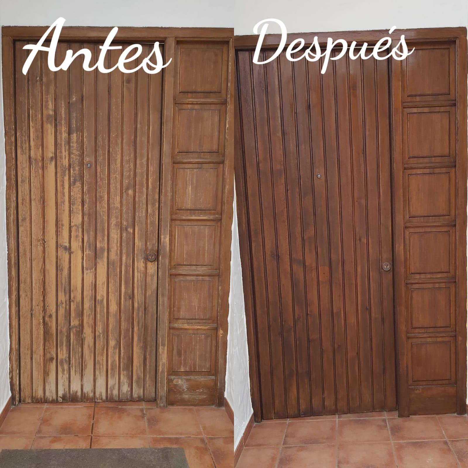 Empresa de pintores. Restauración de puerta de madera