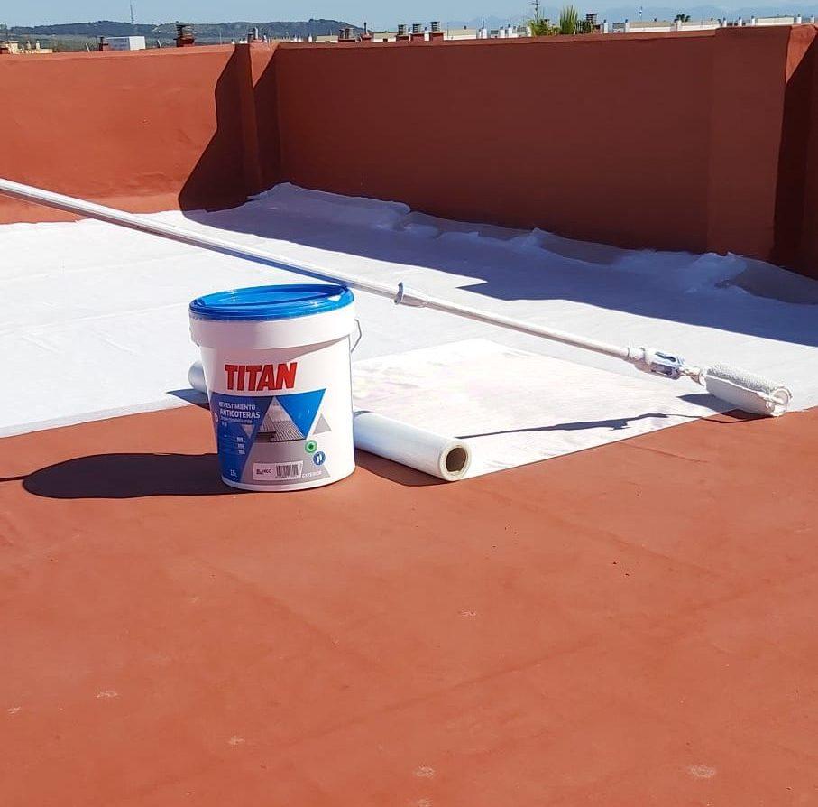 Empresa de pintores. Impermeabilización de cubierta