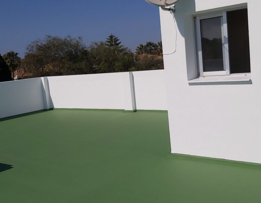 Resanado, impermeabilización y pintado de cubierta